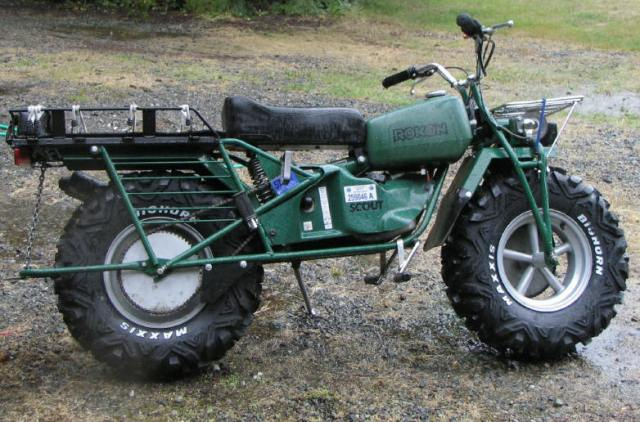 Rokon AWD motorcycle.